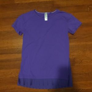 Ivivva Short Sleeved Tee with Ruffle Detailing